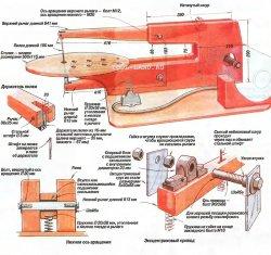 Схема настільного електролобзика